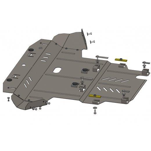 Защита картера Kolchuga, КПП VW PASSAT B5.5 GP, 1.8T, A 2001+ (1.0429.00)
