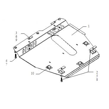 Защита картера Kolchuga, КПП Nissan Note (1.0212.00)