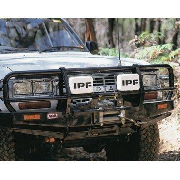 Передний бампер ARB Deluxe на Toyota под лебедку с противотуманками LC80 1990-1997г. (3411040)