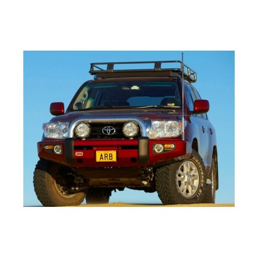 Передний бампер ARB Sahara на Toyota LC200 2007-2012г (для родных омывателей фар) (3915050)