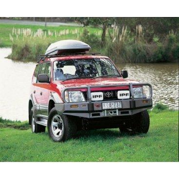 Передний бампер ARB Deluxe на Toyota Prado 90 1996-2000г., под лебедку (3421010)
