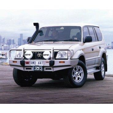 Передний бампер ARB Deluxe на Toyota Prado 90 2000-2003г. под лебедку с противотуманками (3421050).
