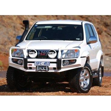 Передний бампер ARB Deluxe на Toyota Prado 120 2003-2009г. под лебедку с противотуманками (3421410)