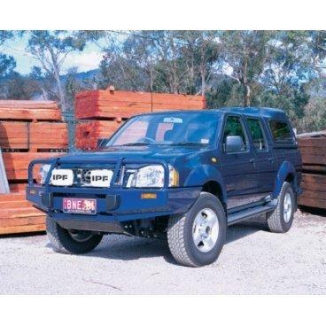 Передний бампер ARB Deluxe на Nissan Navara D22 2002-2014г. под лебедку (3438100)