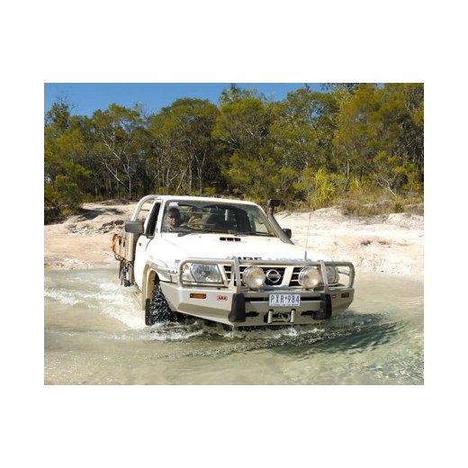 Передний бампер ARB Deluxe на Nissan Partol GU Y61 1997-2004г. под лебедку с расширителями крыльев (3417100)