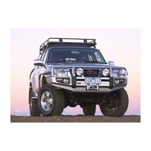 Передний бампер ARB Deluxe на Nissan Partol GU Y61 2004-2014г. под лебедку с расширителями крыльев (3417300)