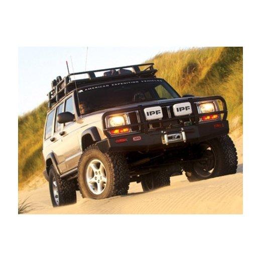 Передний бампер ARB Deluxe на Jeep Cherokee XJ 1997-2002г. под лебедку (3450080)