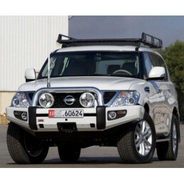 Передний бампер ARB Sahara на Nissan Patrol GU Y62 (с местом под лебедку) 2010-2014г. (3927020)