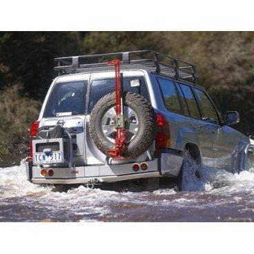 Задний бампер ARB на Nissan Patrol GU Y61 2004-2014г. с колесодержатель  (5617220)