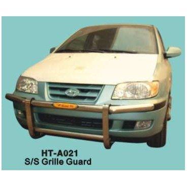 Передняя защита PowerFull (HT-A021) на Hyundai Matrix