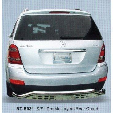 Защита заднего бампера PowerFull (BZ-B031) на Mercedes ML450