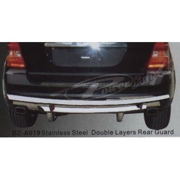 Защита заднего бампера PowerFull (BZ-A019) на Mercedes ML550