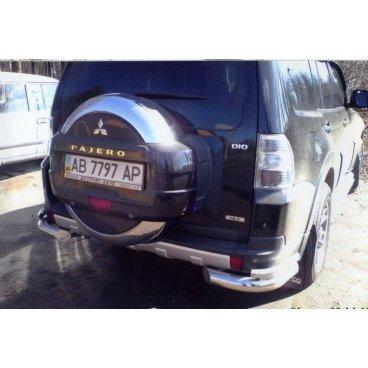 Защита заднего бампера Vnedorognik 1 для Mitsubishi Pajero Wagon