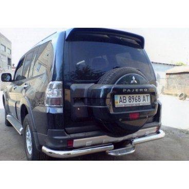 Защита заднего бампера Vnedorognik  для Mitsubishi Pajero Wagon