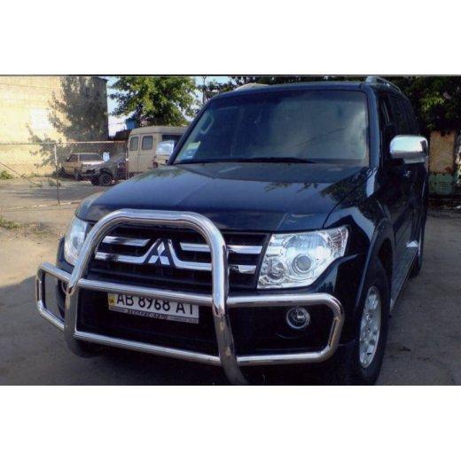 Передняя защита Vnedorognik  для Mitsubishi Pajero Wagon