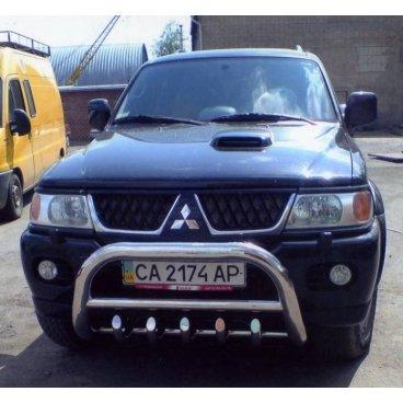 Передняя защита Vnedorognik  для Mitsubishi Pajero