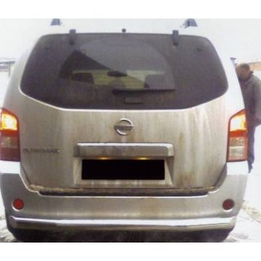 Защита заднего бампера Vnedorognik на Nissan Pathfinder