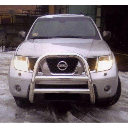 Передняя защита Vnedorognik 1 на Nissan Pathfinder