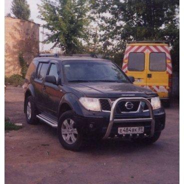 Передняя защита Vnedorognik  на Nissan Pathfinder