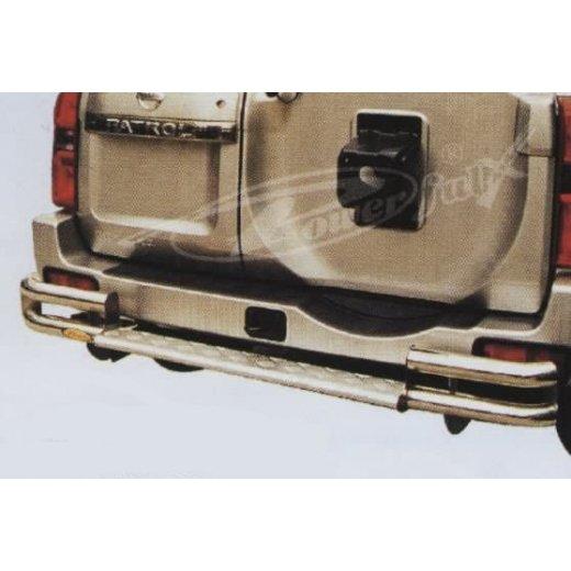 Защита заднего бампера PowerFull (NS-B070) на Nissan Patrol