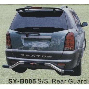 Защита заднего бампера PowerFull (SY-B005) на SsangYong Rexton