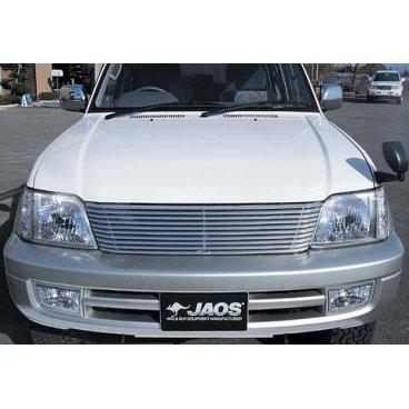 Pешетка радиатора Jaos (алюминий) Toyota LC90 Prado (99-02)