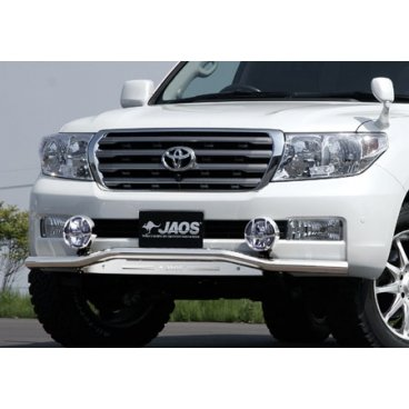 Передняя защита Jaos (216050+217120) для Toyota LC