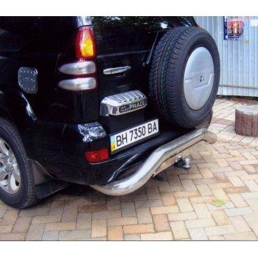 Защита заднего бампера Vnedorognik 1 для Toyota Prado