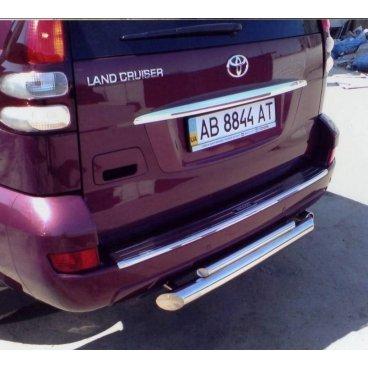 Защита заднего бампера Vnedorognik  для Toyota Prado