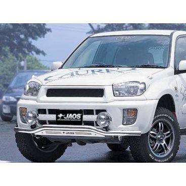 Передняя защита Jaos (216030+217275) для Toyota RAV4