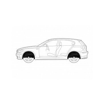 Подкрылок HONDA Civic 4D 2012+ передний левый EXP.NLL.18.17.001