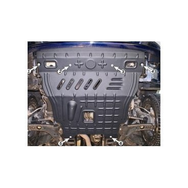Защита двигателя  Полигон-Авто Daewoo Lanos 1.5/1.6 1996 г.+ St